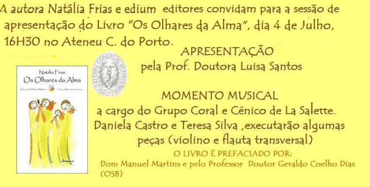 convite natália frias Porto 4 julho