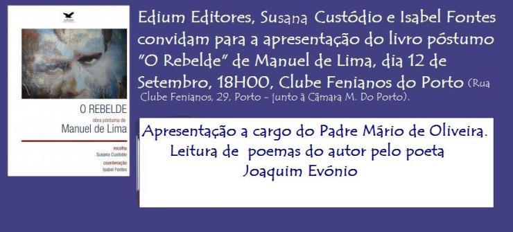 convite O rebelde Porto