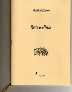 novo ivro de Paula Raposo - contactar a autora
